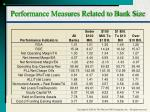 performance measures related to bank size
