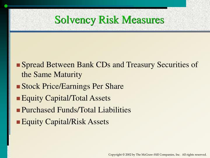Solvency Risk Measures