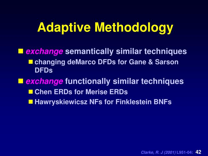 Adaptive Methodology