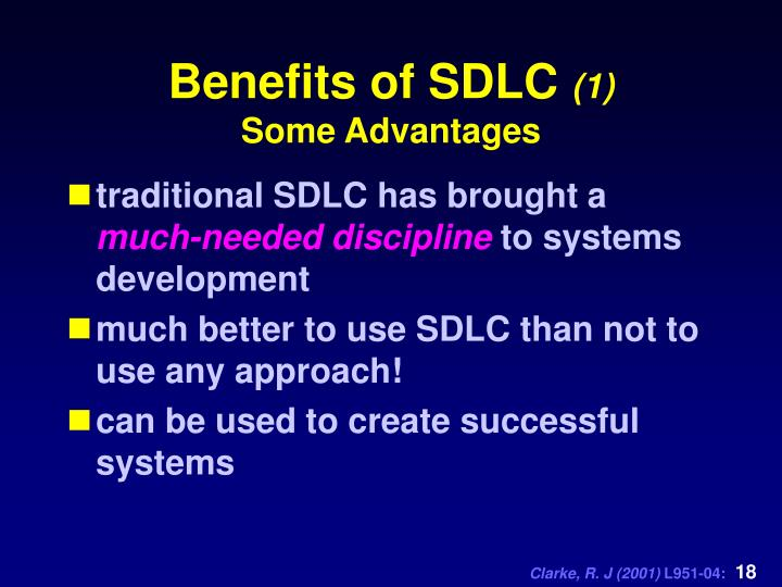 Benefits of SDLC