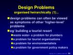 design problems organised heirarchically 1