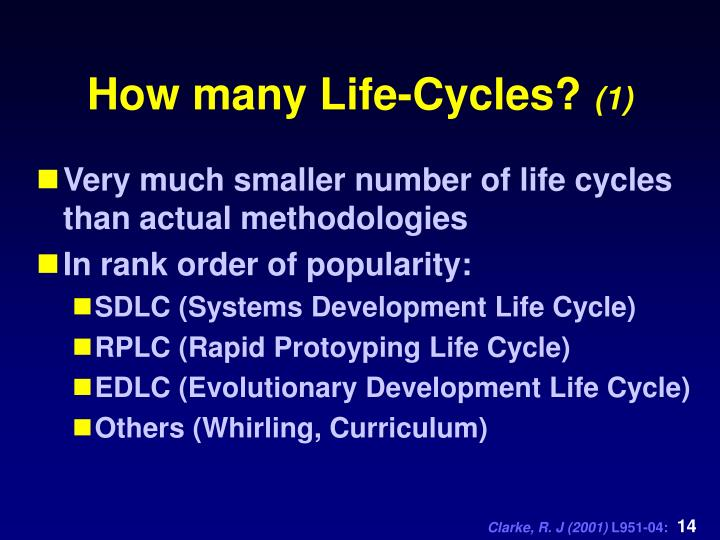 How many Life-Cycles?