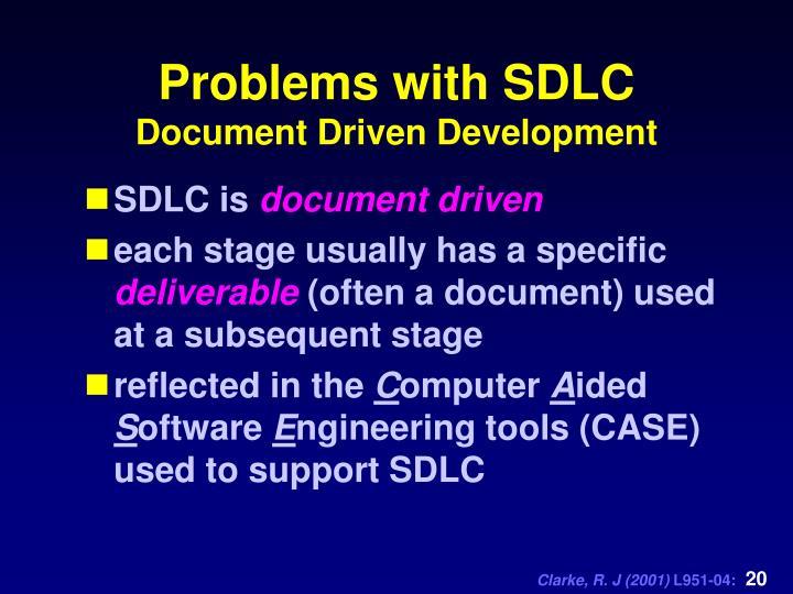 Problems with SDLC