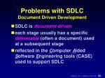 problems with sdlc document driven development