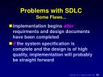 problems with sdlc some flaws