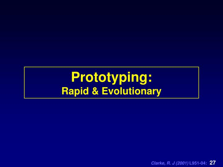 Prototyping: