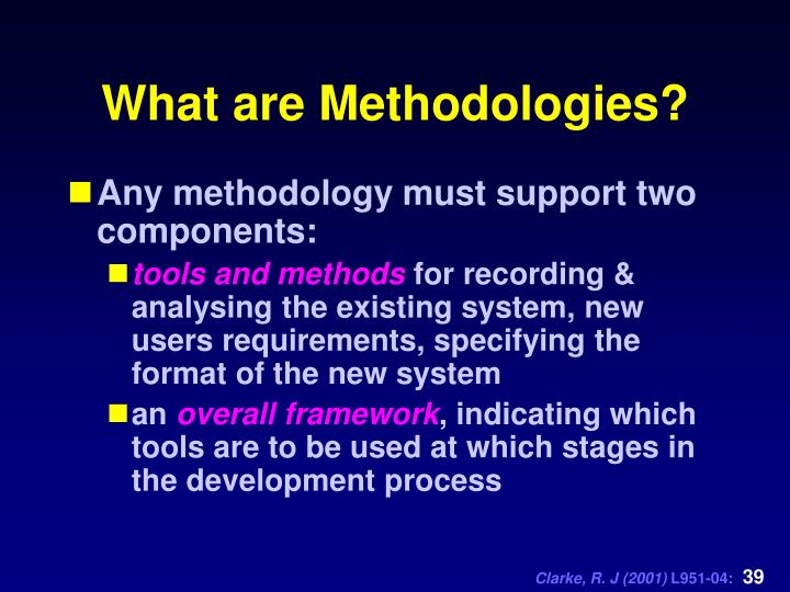What are Methodologies?