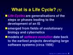 what is a life cycle 1