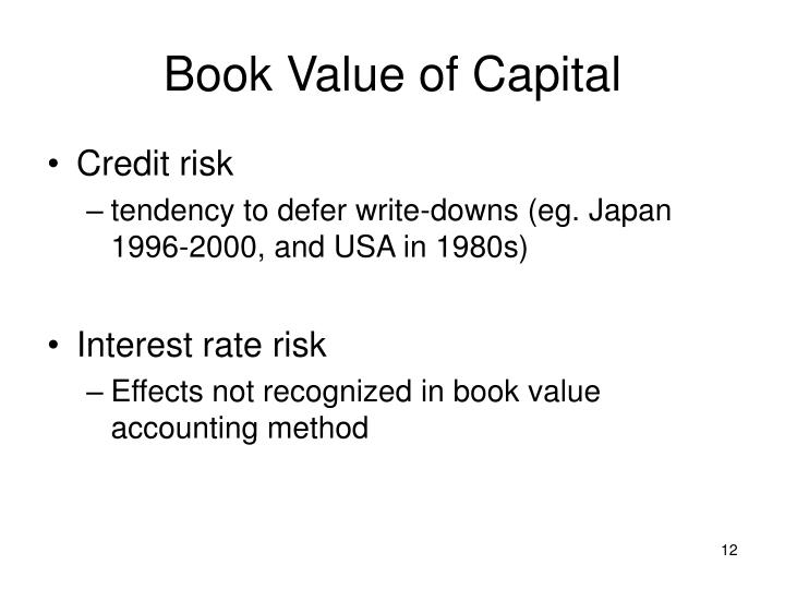 Book Value of Capital