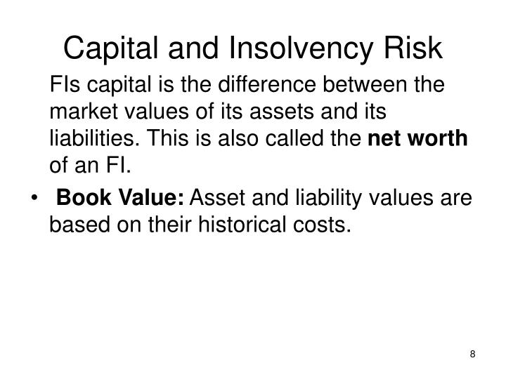Capital and Insolvency Risk