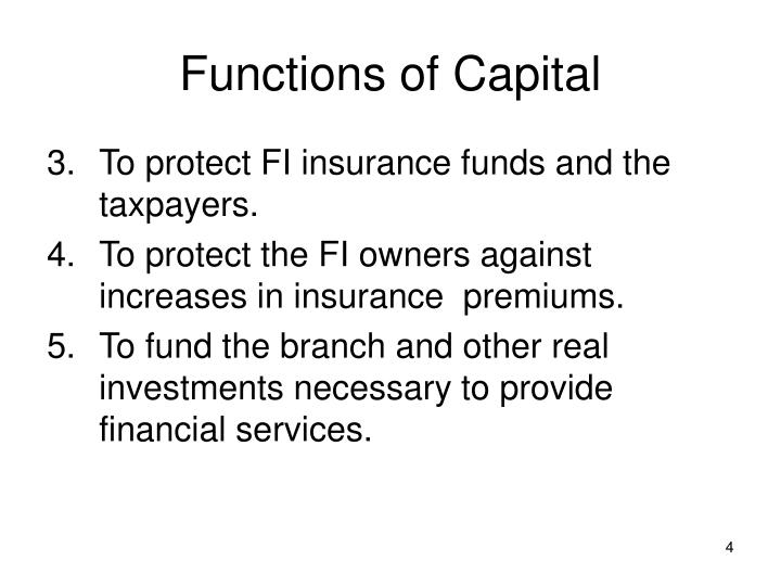 Functions of Capital