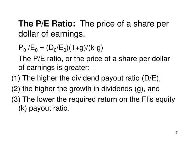 The P/E Ratio: