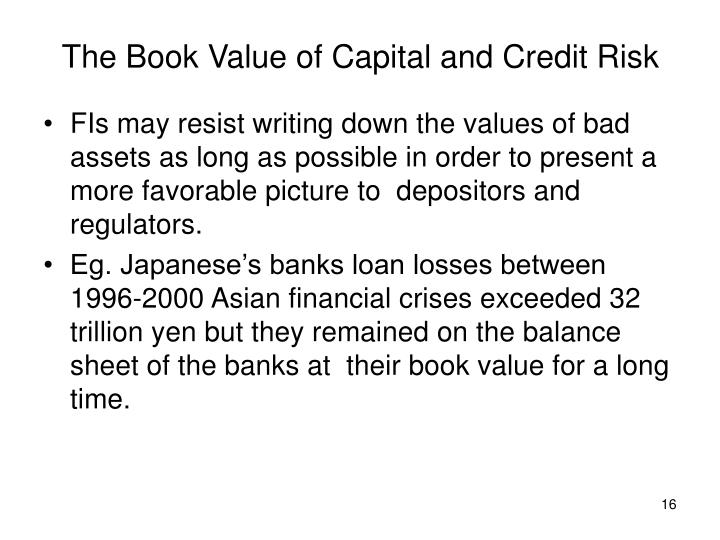 The Book Value of Capital and Credit Risk