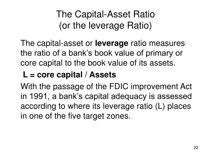 The Capital-Asset Ratio