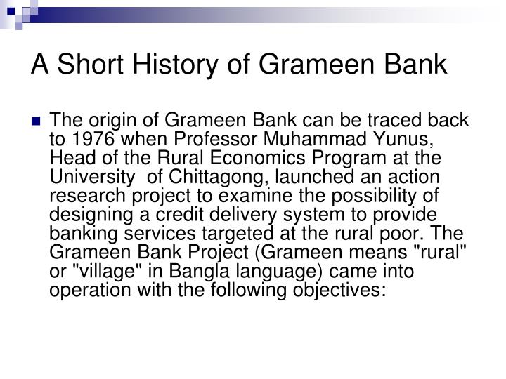 A Short History of Grameen Bank
