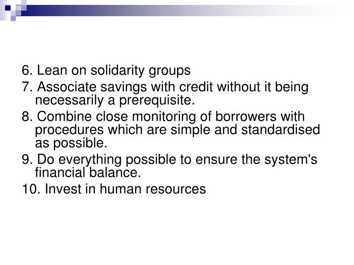 6. Lean on solidarity groups
