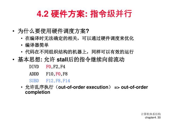 4.2 硬件方案: 指令级并行
