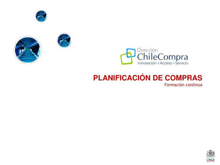 PLANIFICACIÓN DE COMPRAS