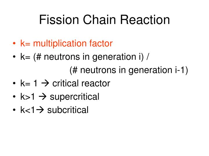 Fission Chain Reaction