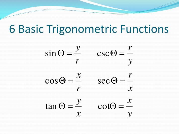 6 Basic Trigonometric Functions
