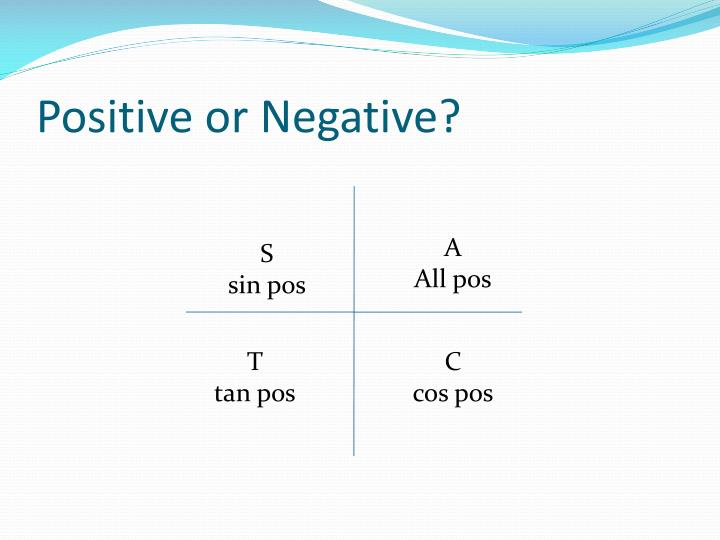 Positive or Negative?