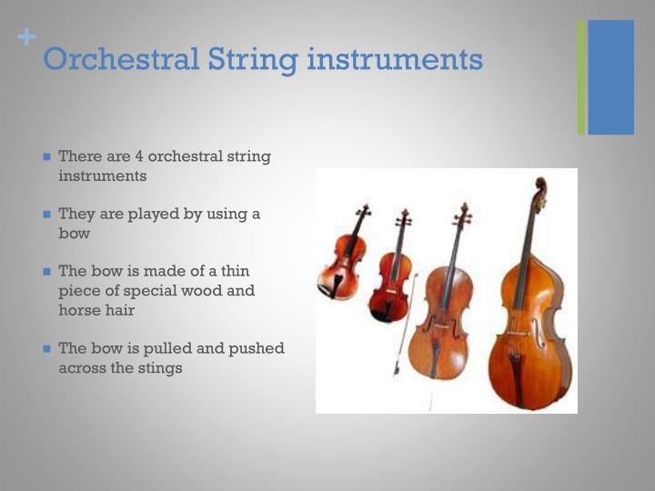 Orchestral String instruments
