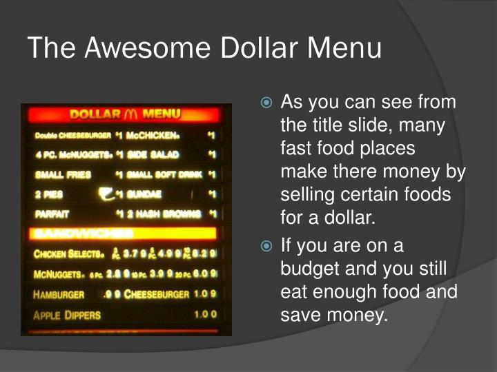 The Awesome Dollar Menu