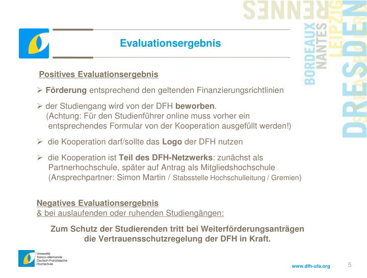 Evaluationsergebnis