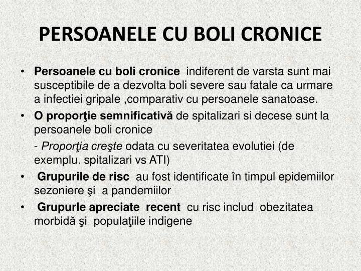 PERSOANELE CU BOLI CRONICE