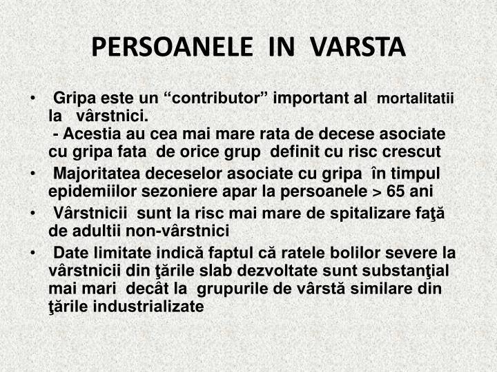 PERSOANELE  IN  VARSTA
