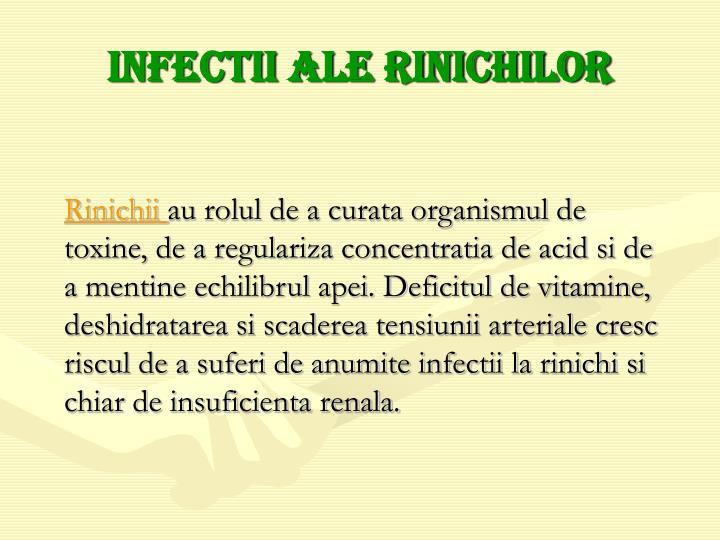 Infectii ale rinichilor