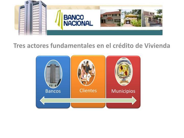 Tres actores fundamentales en el crédito de Vivienda