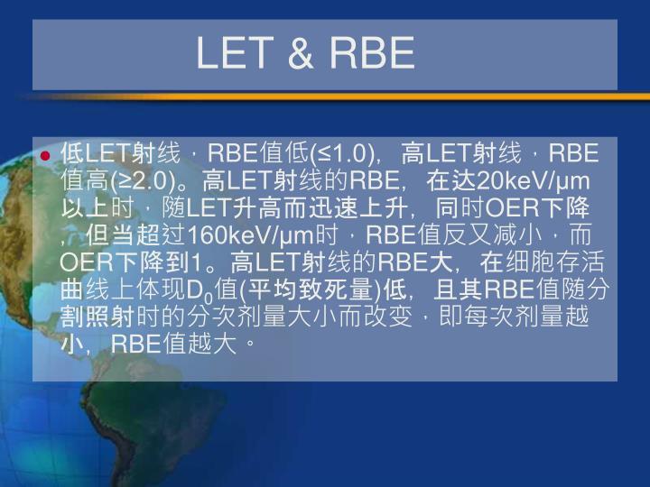 LET & RBE