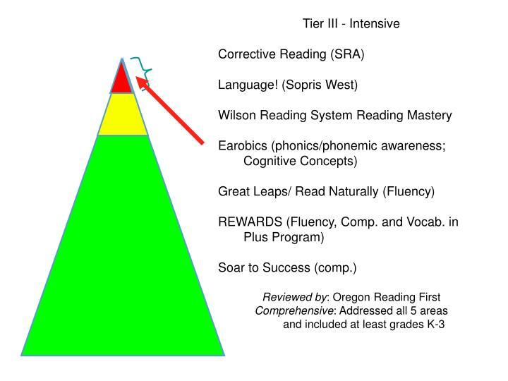 Tier III - Intensive