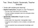 two direct explicit systematic teacher directed