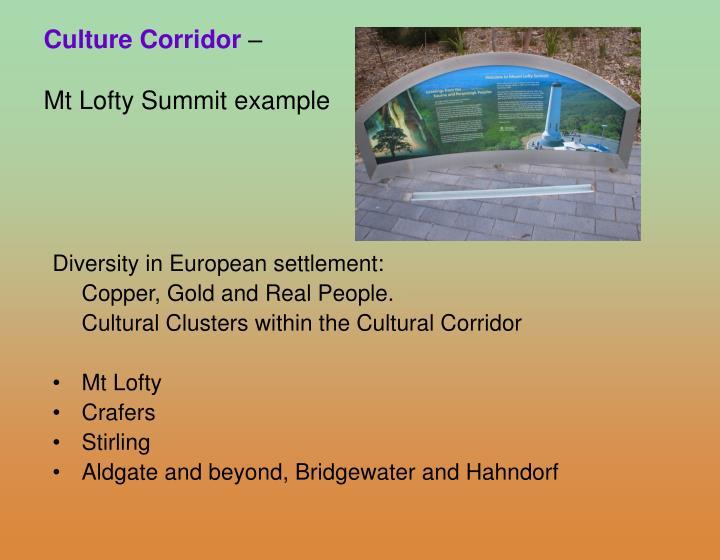 Culture Corridor