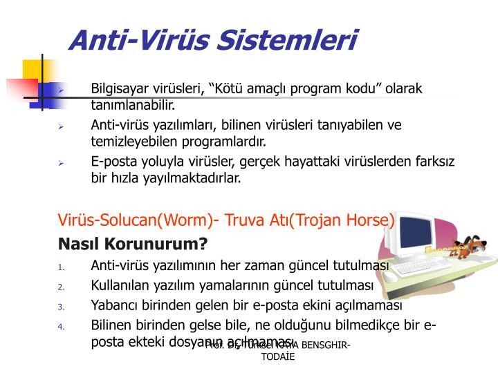 Anti-Virüs Sistemleri