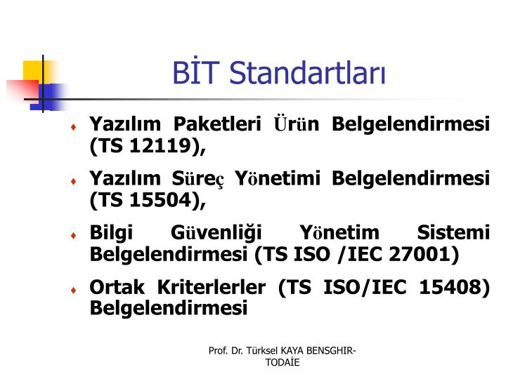 BT Standartlar