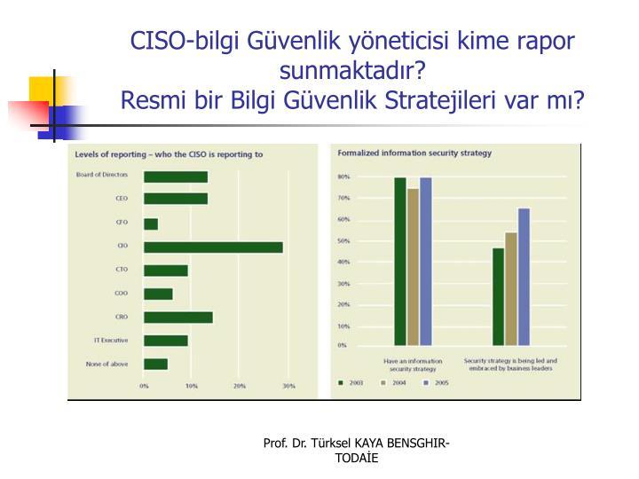CISO-bilgi Gvenlik yneticisi kime rapor sunmaktadr?