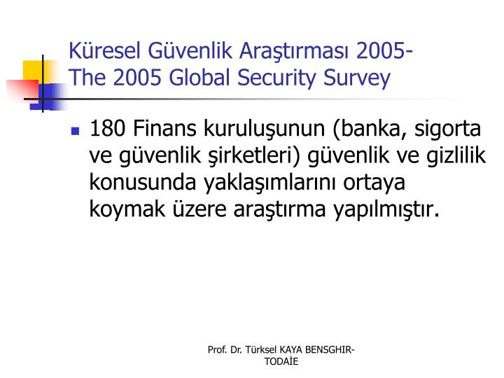 Kresel Gvenlik Aratrmas 2005-
