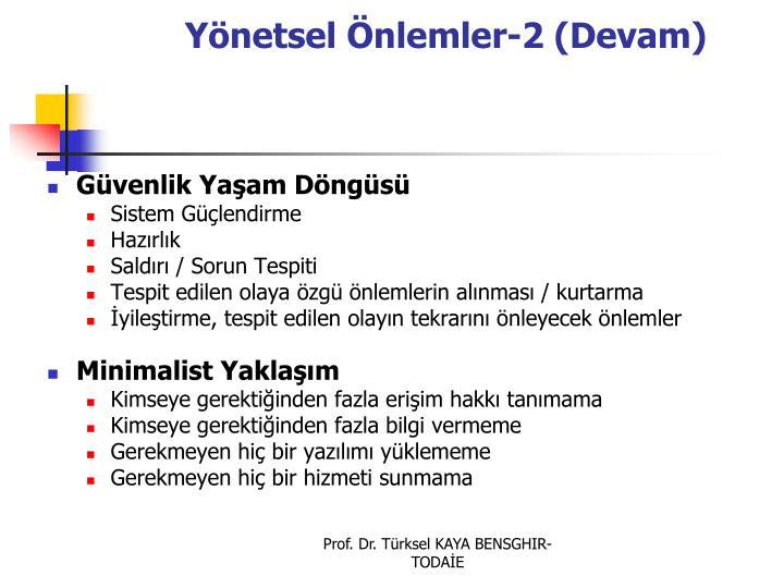Ynetsel nlemler-2 (Devam)