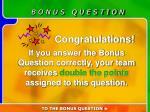 bonus question