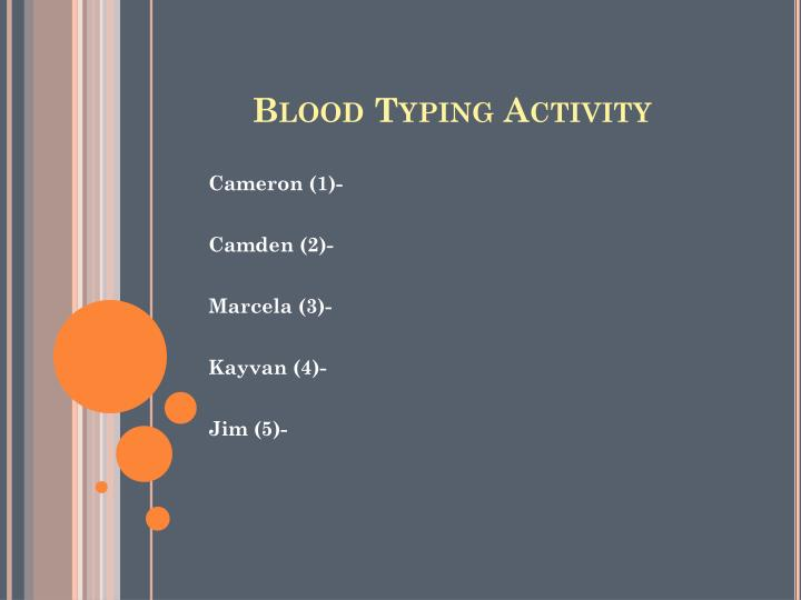 Blood Typing Activity