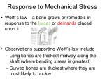 response to mechanical stress1