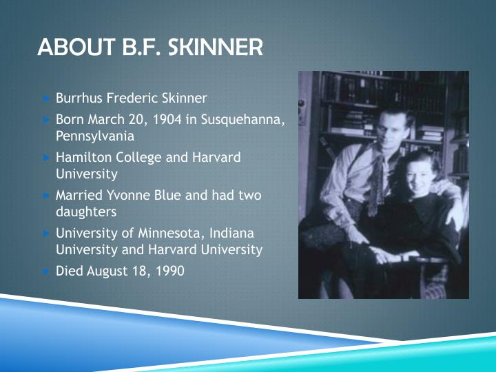 About B.f. Skinner