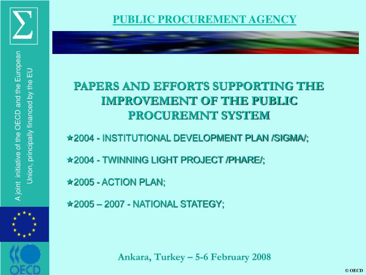 PUBLIC PROCUREMENT AGENCY