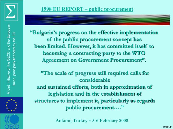 1998 EU REPORT – public procurement