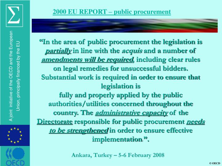 2000 EU REPORT – public procurement