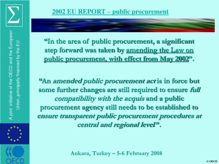 2002 EU REPORT – public procurement