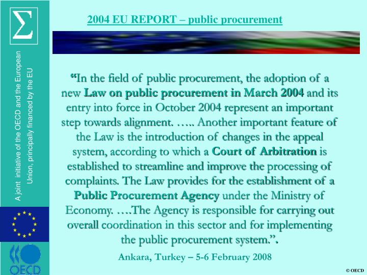 2004 EU REPORT – public procurement